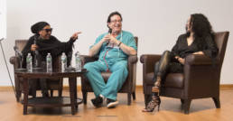 Cat Glover, Dr. Fink & Ingrid Chavez at Lovesexy Symposium. photo by Elena Olivo.
